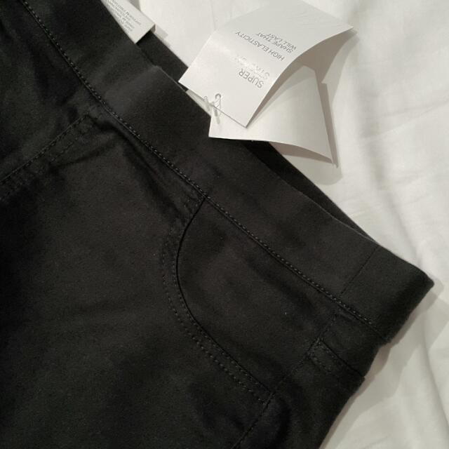 美國H&M 黑色百搭顯瘦長褲