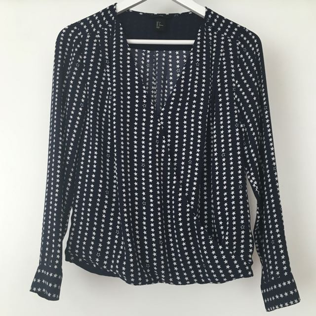 H&M Blouse With Stars Print