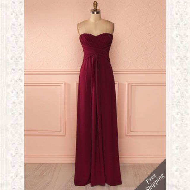Maroon Dress 1861