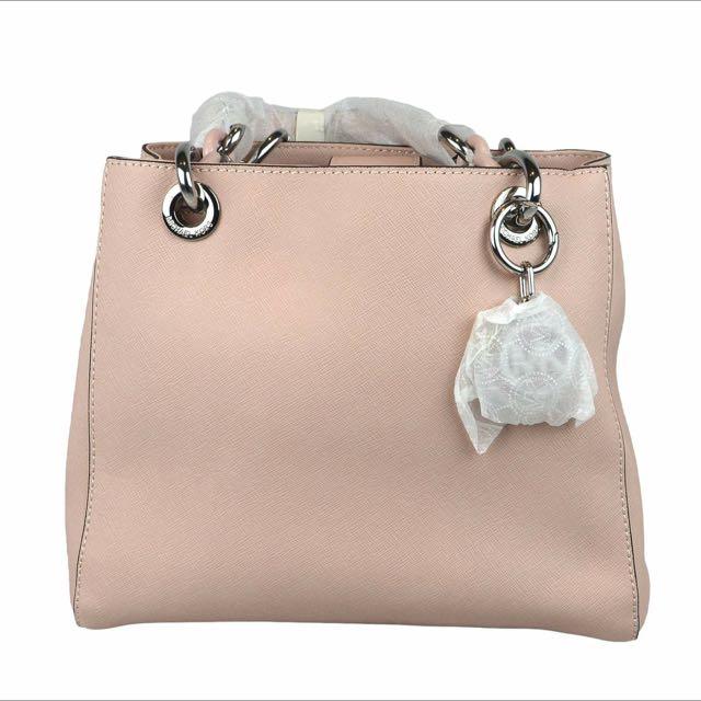 Michael Kors Cynthia Small Saffiano Satchel Bag, Ballet