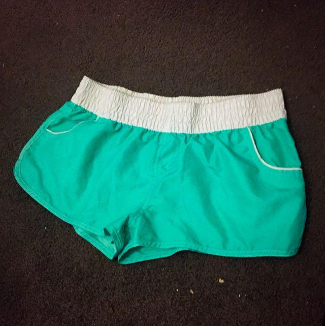 Mint Green Beach Shorts