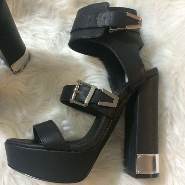 Nasty gal Shoe Cult Black Platform Heels