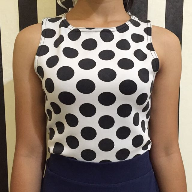 New Look Polkadot Crop Top