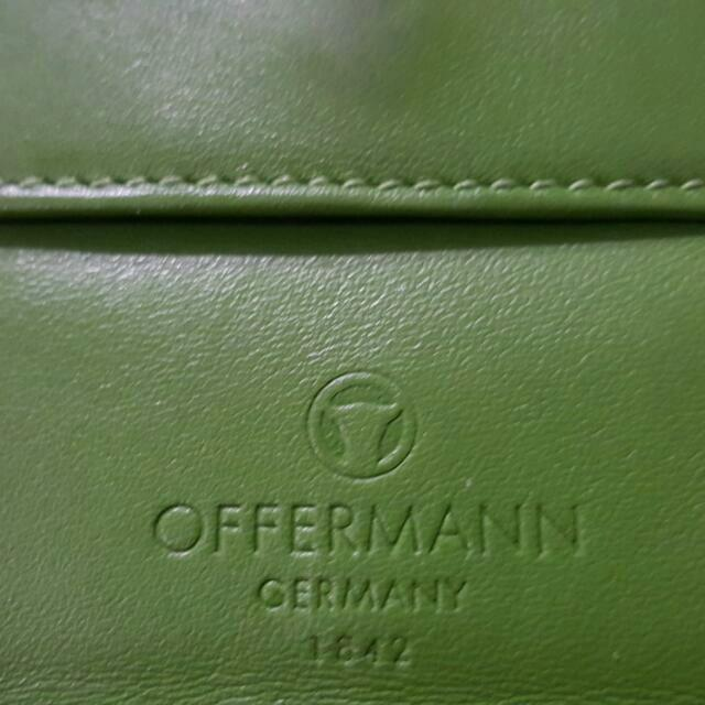 offermann  綠色真牛皮短夾