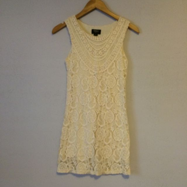 ONLY Cream Crochet Dress (XS)