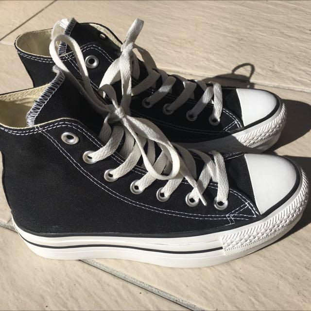 Platform Black Converse High Tops