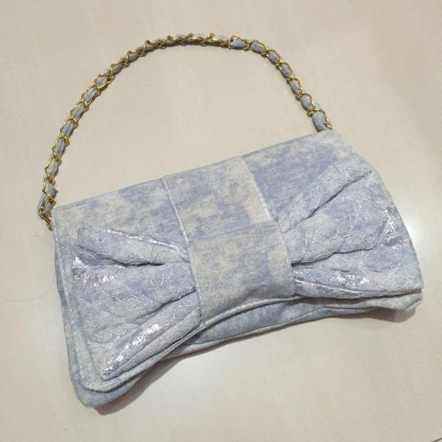 Preloved Soft Cotton Denim Handbag