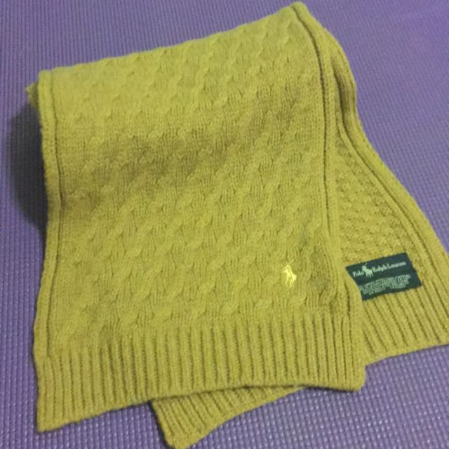 Ralph Lauren Polo駝色小羊毛圍巾