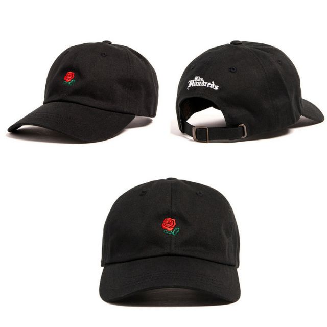 Rose Cap Black & Red embroided logo / Adjustable Size