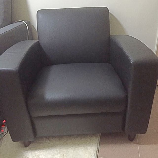 Single Seat Black Sofa