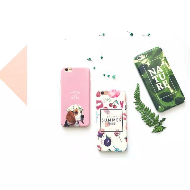 粉紅/summer/綠葉手機殼
