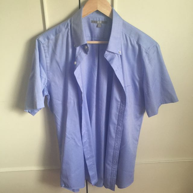UNIQLO Short Sleeve Shirt Blue (M)