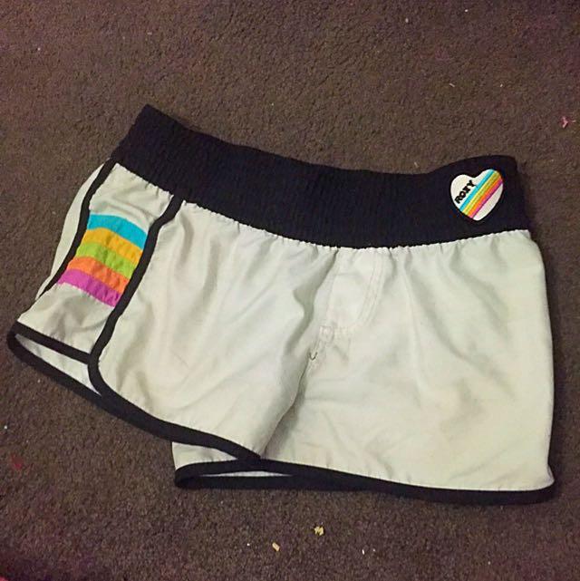 White Roxy Beach Shorts
