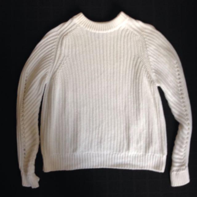 White Topshop Knit jumper