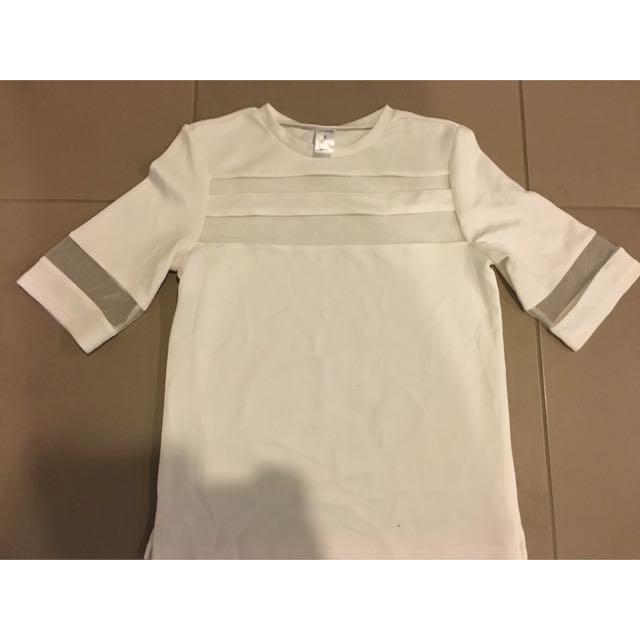 white/see through shirt