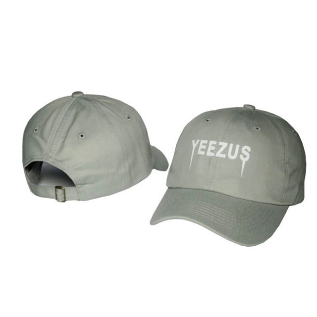 Yeezus Grey on White cap / Adjustable Fit