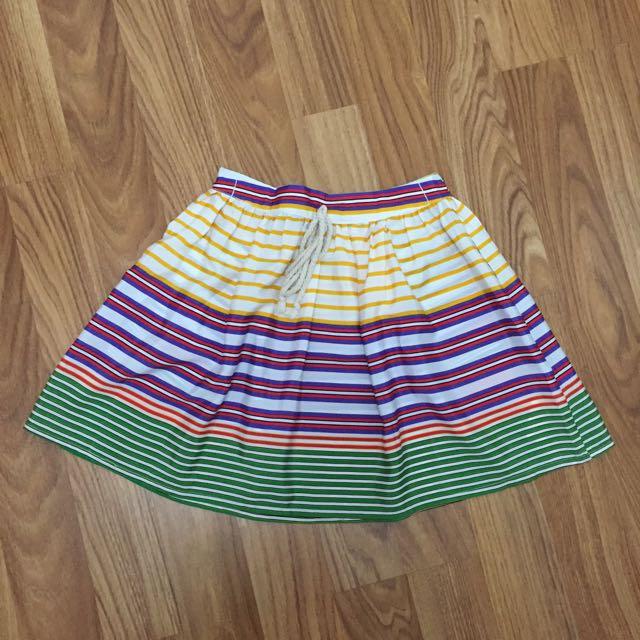 Zara Colorful Flare Skirt