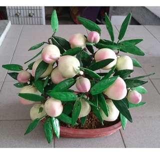 桃子盆栽裝飾