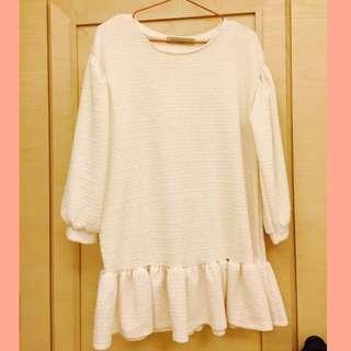 米白色連身裙