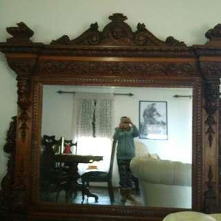 Antique Mirror English Oak