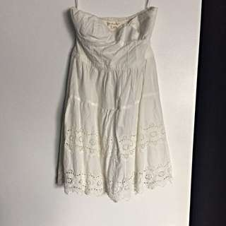 White AMERICAN EAGLE Lacy Dress