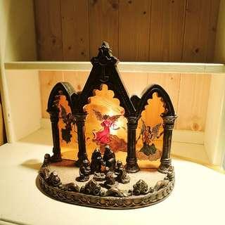 免運費 - 美國手工玻璃彩繪小夜燈/耶穌誕生/聖誕夜燈