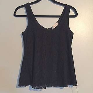 Black Lacy Tank Top