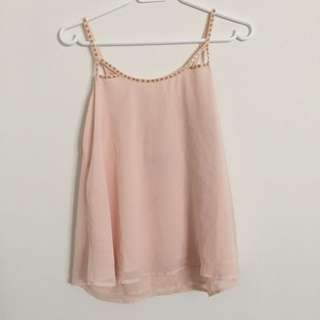 BRAND NEW Peach Strappy Back Tank