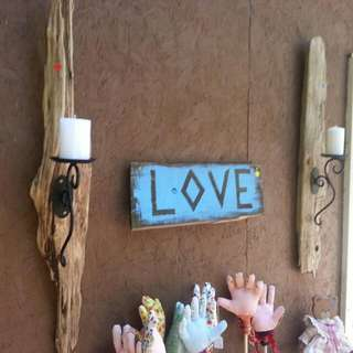 Driftwood Candle Holders Signs Jewellery  Holders Also Coat Racks And Art