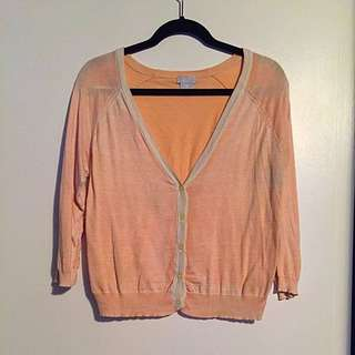 Light Orange JOE FRESH Cardigan
