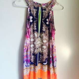 Brightly Coloured Holiday Dress