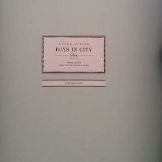 Super Junior Boys In The City Postcards Book