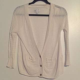 Light Weight White AMERICAN EAGLE Cardigan