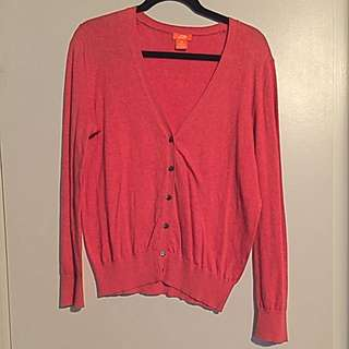 Coral JOE FRESH Cardigan