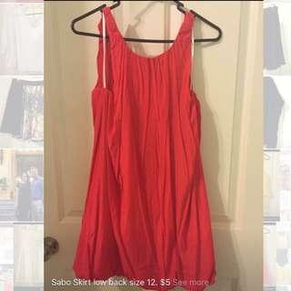 Sabo Skirt Red Dress. Size 12.