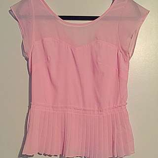 Pink PEPLUM Top From AMERICAN EAGLE
