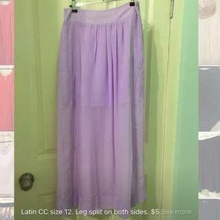 Purple Skirt. Size 12.