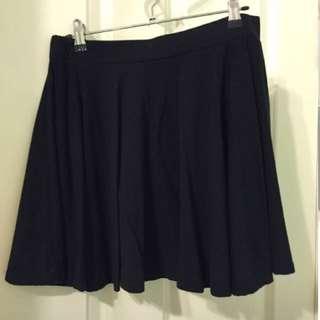 Black Skater Skirt. Size M.