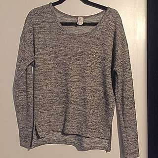 Grey/Gold Knit Sweater