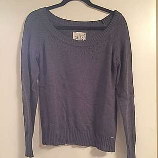 Dark Grey GARAGE Knit Sweater
