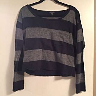 Blue/Grey Stripped FOREVER 21 Sweater