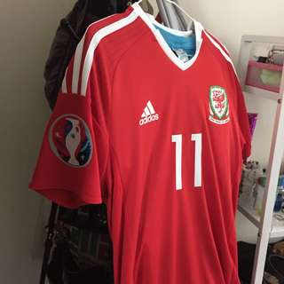 Authentic Adidas Wales Euro 2016 Bale 11 Jersey
