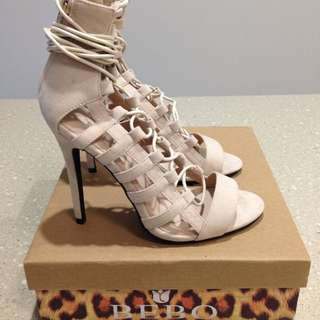 Misguided Bebo Ankle Strap Heels AU 6