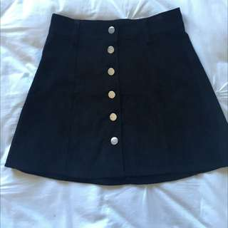Black Corduroy Skirt Size 6