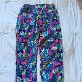 Floral Pants Size 6