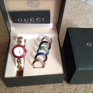 Gucci Ladies Watch with 6 ring bezels