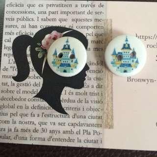 Brand New In Packet Castle Earrings