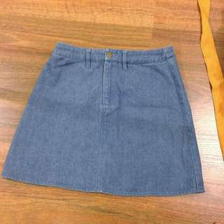 A-Lined Denim Skirt