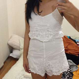 Cute white Playsuit