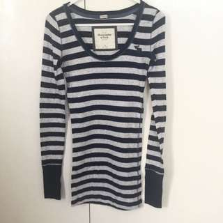 Abercrombie&Fitch Stripes Long Tshirt/ Mini Dress